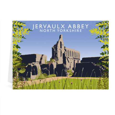 Jervaulx Abbey, North Yorkshire Greeting Card 7x5