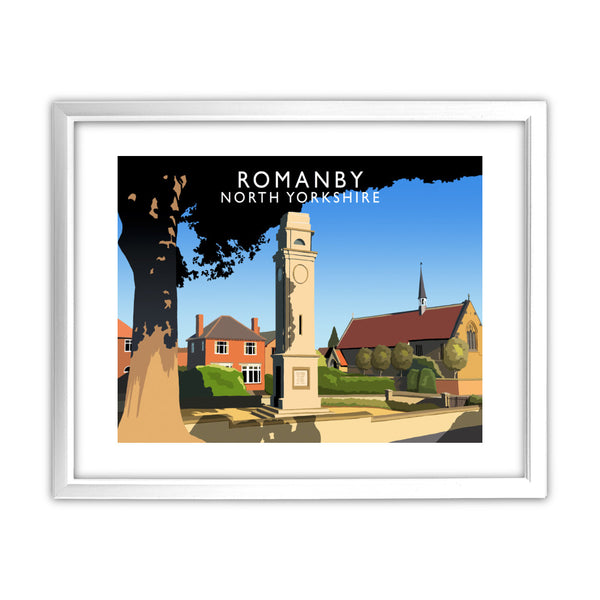 Romanby, North Yorkshire 11x14 Framed Print (White)