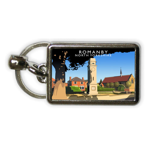 Romanby, North Yorkshire Metal Keyring