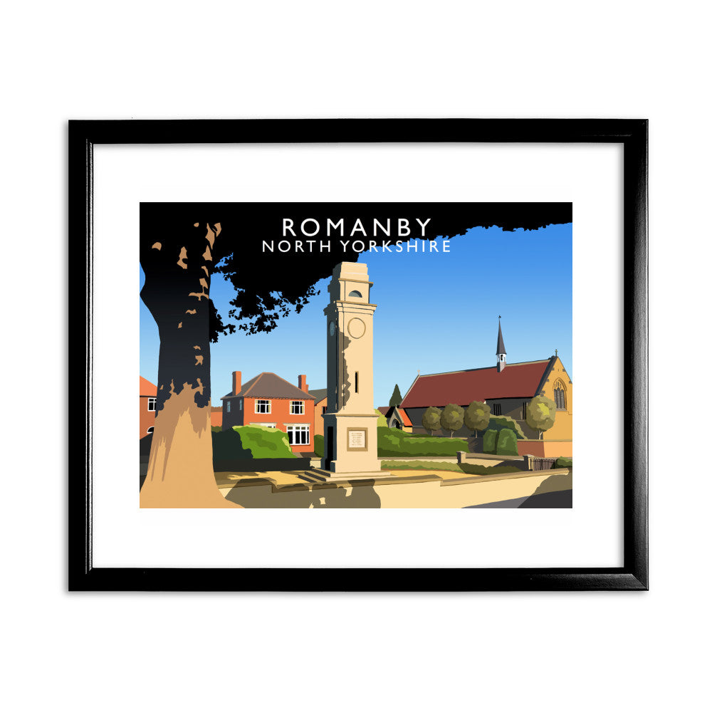 Romanby, North Yorkshire 11x14 Framed Print (Black)