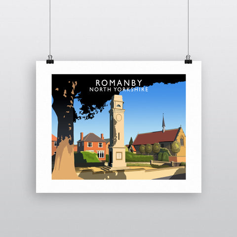 Romanby, North Yorkshire 90x120cm Fine Art Print