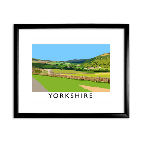 Yorkshire 11x14 Framed Print (Black)