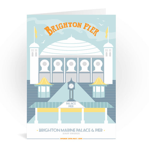 Brighton Pier, Brighton Greeting Card 7x5