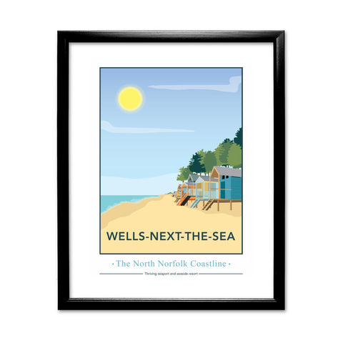 Wells-Next-The Sea, Norfolk 11x14 Framed Print (Black)