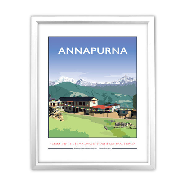 Annapurna, The Himalayas 11x14 Framed Print (White)