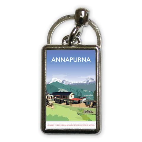 Annapurna, The Himalayas Metal Keyring