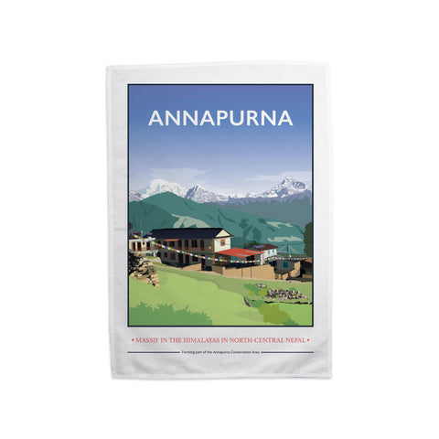 Annapurna, The Himalayas Tea Towel