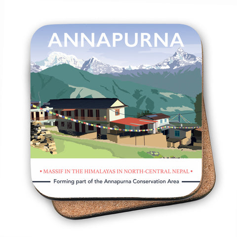 Annapurna, The Himalayas MDF Coaster