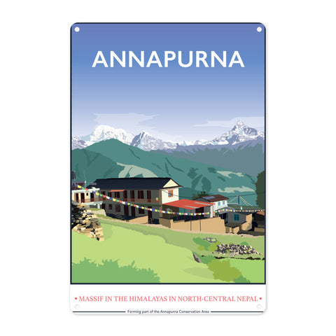 Annapurna, The Himalayas Metal Sign