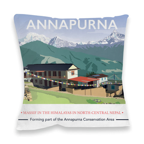 Annapurna, The Himalayas Fibre Filled Cushion