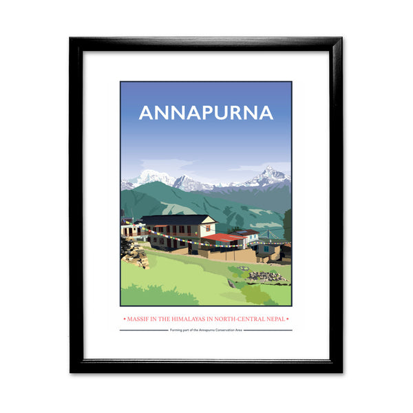 Annapurna, The Himalayas 11x14 Framed Print (Black)