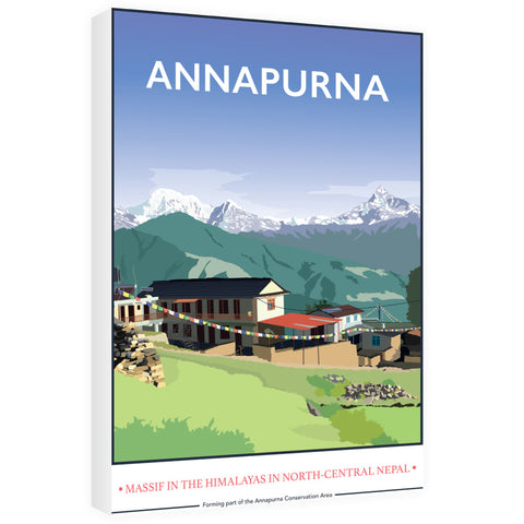 Annapurna, The Himalayas 60cm x 80cm Canvas