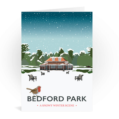 Bedford Park, Bedford Greeting Card 7x5