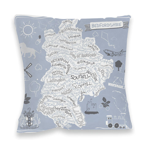 County Map of Bedfordshire, Fibre Filled Cushion