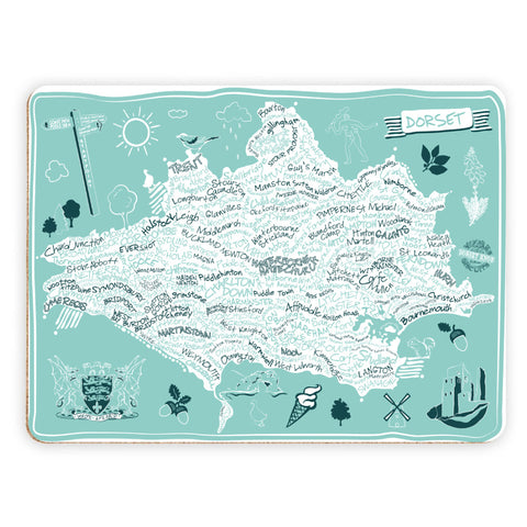 County Map of Dorset, Placemat