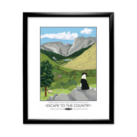 Escape to the Country, 11x14 Framed Print (Black)