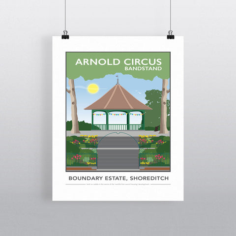 Arnold Circus Bandstand, Shoreditch, London 90x120cm Fine Art Print
