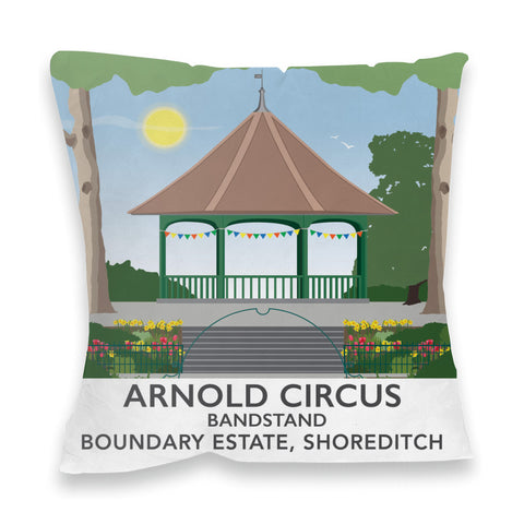 Arnold Circus Bandstand, Shoreditch, London Fibre Filled Cushion