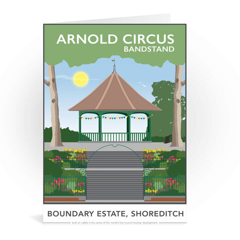 Arnold Circus Bandstand, Shoreditch, London Greeting Card 7x5