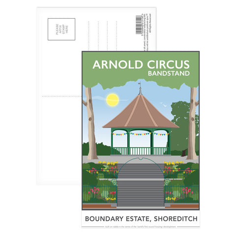 Arnold Circus Bandstand, Shoreditch, London Postcard Pack