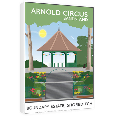 Arnold Circus Bandstand, Shoreditch, London 60cm x 80cm Canvas
