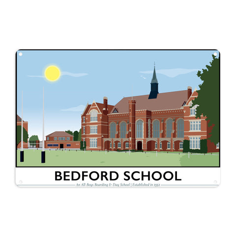 Bedford School, Bedfordshire Metal Sign
