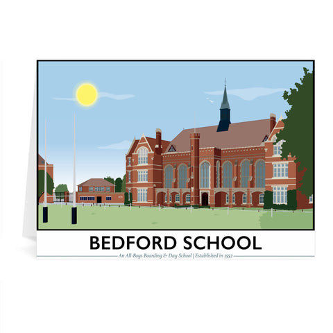 Bedford School, Bedfordshire Greeting Card 7x5