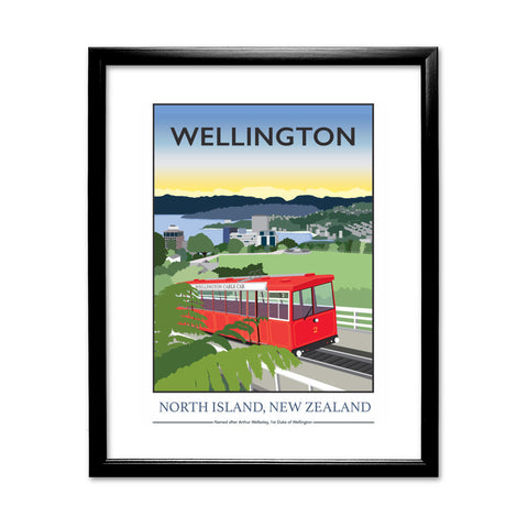 Wellington, North Island, New Zealand 11x14 Framed Print (Black)