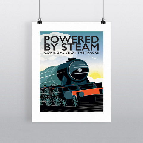 Powered By Steam, 90x120cm Fine Art Print