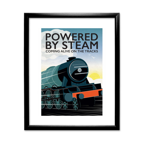 Powered By Steam, 11x14 Framed Print (Black)