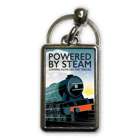 Powered By Steam, Metal Keyring