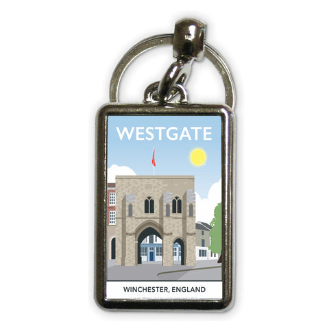 Westgate, Winchester, Hampshire Metal Keyring