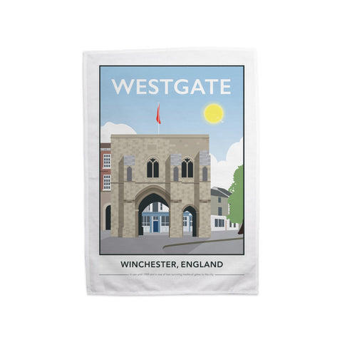 Westgate, Winchester, Hampshire Tea Towel
