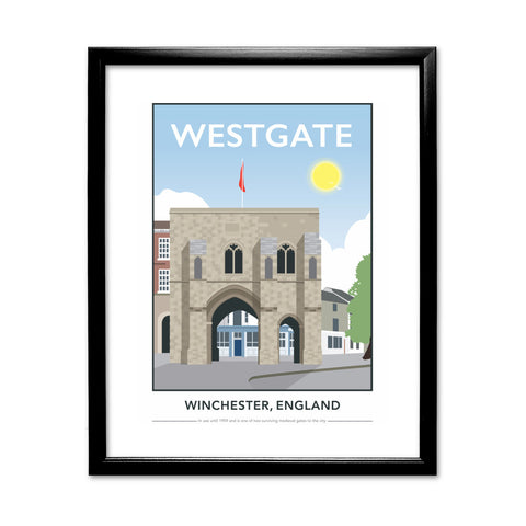 Westgate, Winchester, Hampshire 11x14 Framed Print (Black)