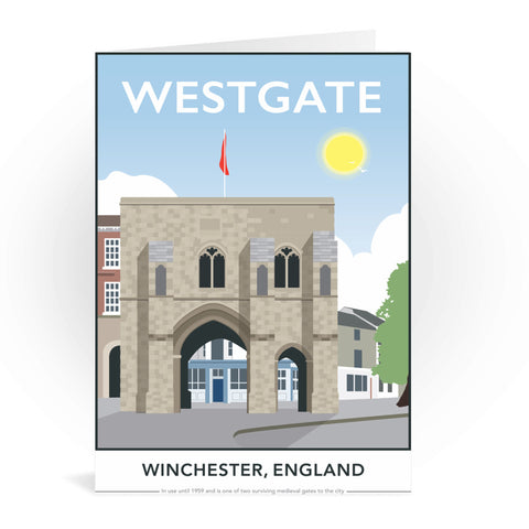 Westgate, Winchester, Hampshire Greeting Card 7x5