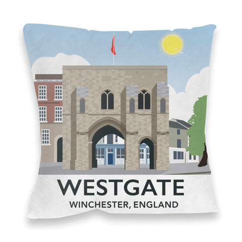 Westgate, Winchester, Hampshire Fibre Filled Cushion