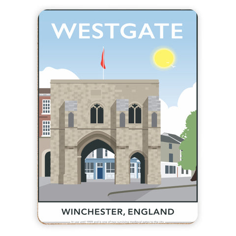 Westgate, Winchester, Hampshire Placemat
