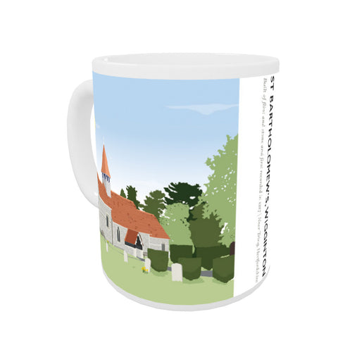 St Bartholomews Church, Wiggington, Hertfordshire Coloured Insert Mug