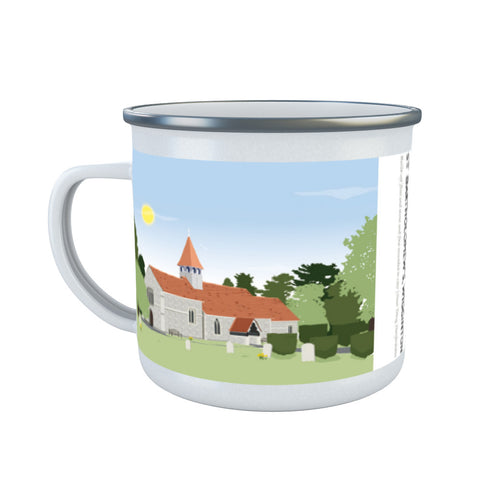 St Bartholomews Church, Wiggington, Hertfordshire Enamel Mug