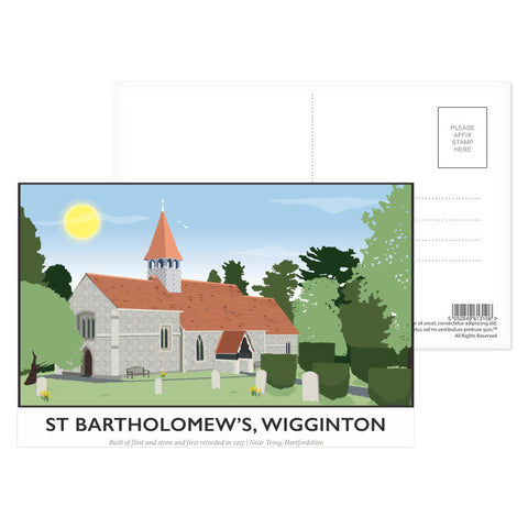 St Bartholomews Church, Wiggington, Hertfordshire Postcard Pack