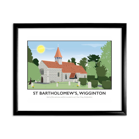 St Bartholomews Church, Wiggington, Hertfordshire 11x14 Framed Print (Black)