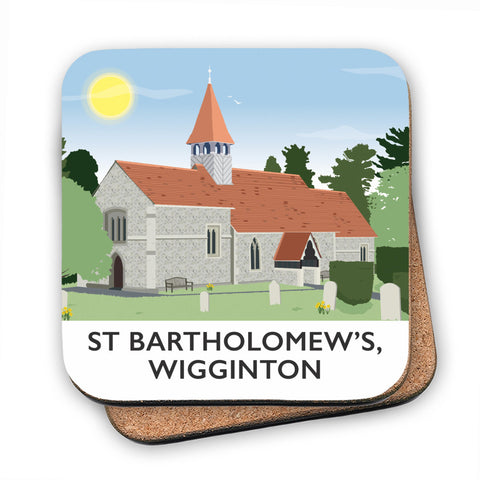 St Bartholomews Church, Wiggington, Hertfordshire MDF Coaster