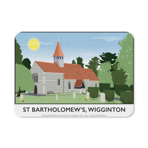 St Bartholomews Church, Wiggington, Hertfordshire Mouse mat