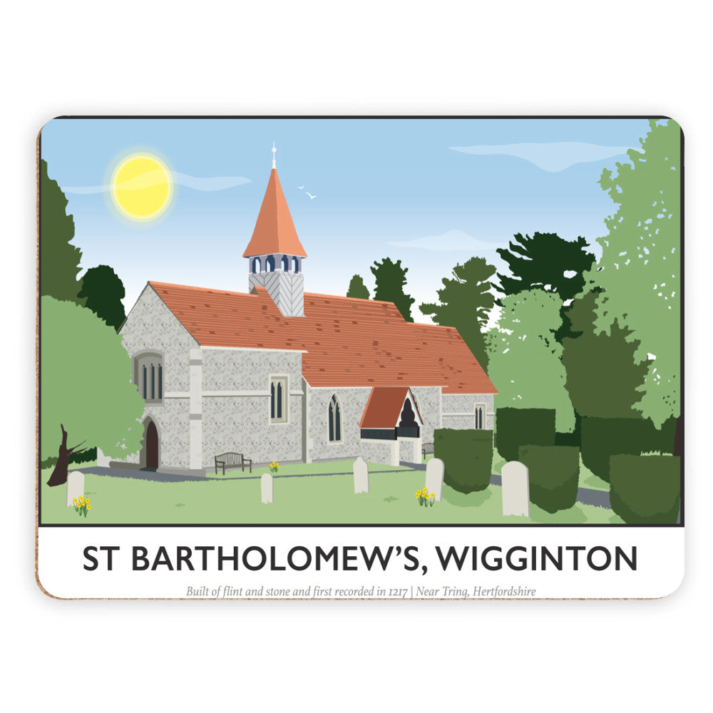 St Bartholomews Church, Wiggington, Hertfordshire Placemat