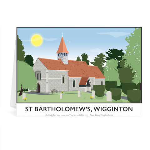 St Bartholomews Church, Wiggington, Hertfordshire Greeting Card 7x5