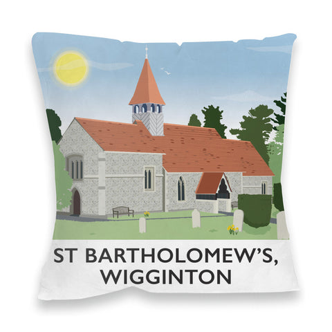 St Bartholomews Church, Wiggington, Hertfordshire Fibre Filled Cushion