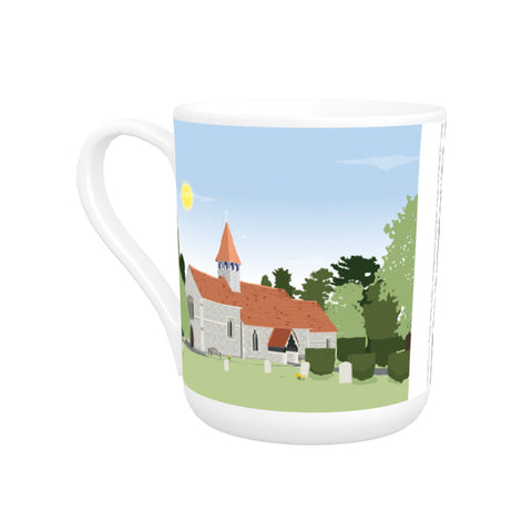 St Bartholomews Church, Wiggington, Hertfordshire Bone China Mug