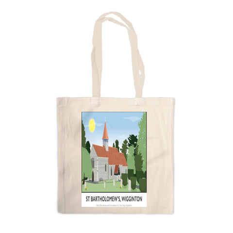 St Bartholomews Church, Wiggington, Hertfordshire Canvas Tote Bag