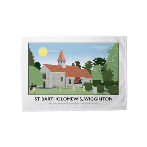 St Bartholomews Church, Wiggington, Hertfordshire Tea Towel