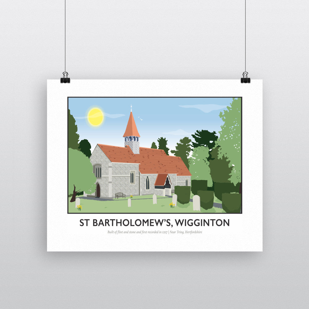 St Bartholomews Church, Wiggington, Hertfordshire 90x120cm Fine Art Print
